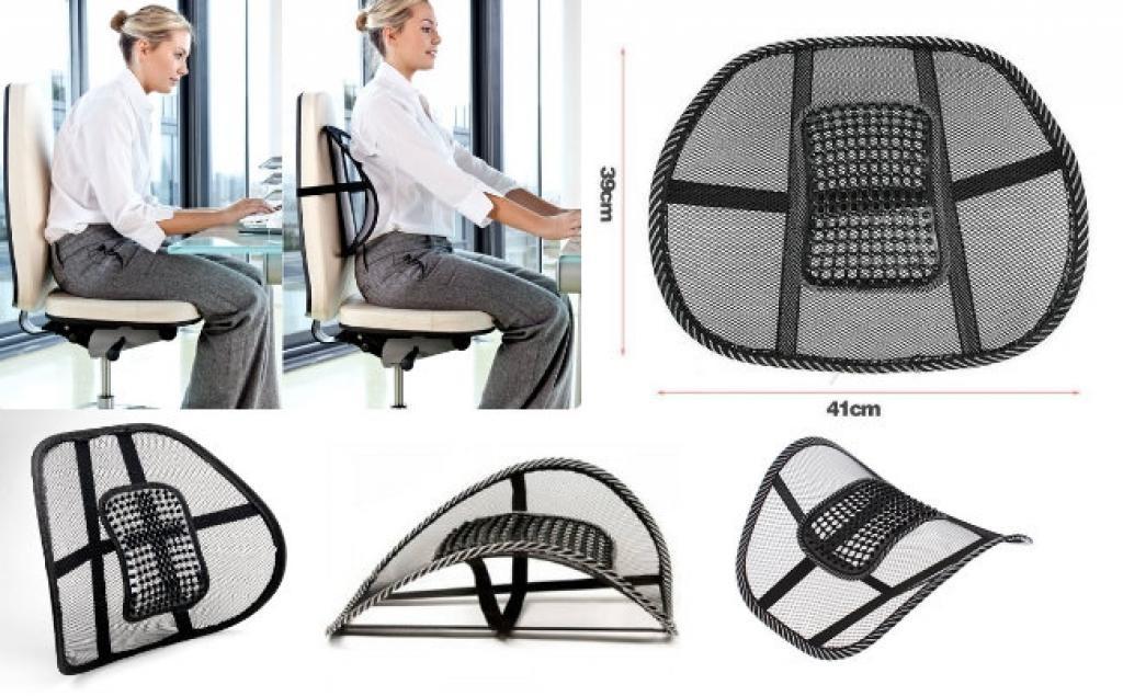 anatomski naslon za stolicu sa masažerom za pravilno sedenje za računarom